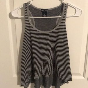 Black and grey striped tank top